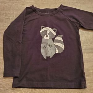 PL Kids black shirt with Racoon